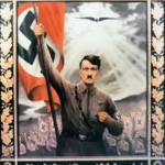 Hitler as Parsifal with Flag
