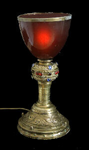 The pure and noble blood in the chalice of the Grail